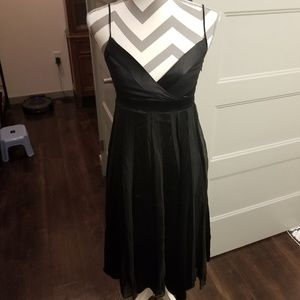 DVF black silk empire waist dress 2
